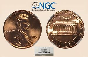 1985 1C NGC MS68 RD LINCOLN CENT   ONLY 9 HIGHER   RICKSCAFEAMERICAN.COM