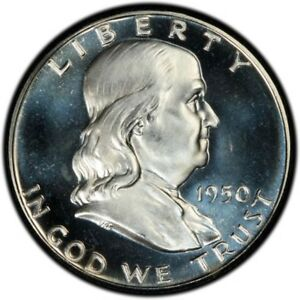 Click now to see the BUY IT NOW Price! 1950 50C FRANKLIN HALF DOLLAR PCGS PR67 CAM  CAC  2833 1