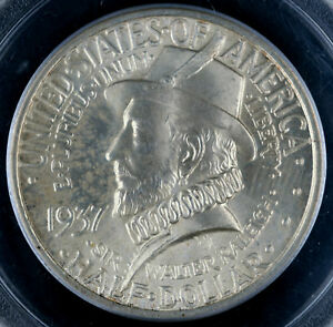 1937 50C ROANOKE ISLAND HALF DOLLAR PCGS MS65 8244571