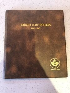 CANADIAN SILVER HALF DOLLARS 1870 1945   29 COINS TOTAL   MISSING SOME YEARS