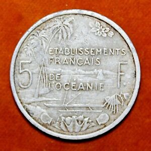 KM 4   5 FRANCS    FRENCH POLYNESIA 1952  F