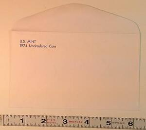 COIN SUPPLIES  1974 US UNC. MINT SET ENVELOPE NEW SLIGHT GLUE FLAW FREE US SHIP
