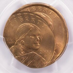 Click now to see the BUY IT NOW Price! PCGS $1 2000 P SACAGAWEA DOLLAR MULTISTRUCK 25  OFF CENTER MS65