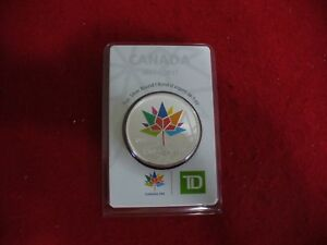 Click now to see the BUY IT NOW Price! 2017    CANADA 150  MAPLE LEAF COLORED SILVER ROUND  COINS TD  BANK LIMITED