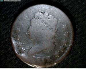 1812  LARGE CENT PENNY CLASSIC HEAD  LC124