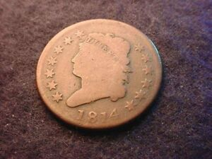 1814 CLASSIC HEAD KEY DATE LARGE CENT GREAT COIN       2