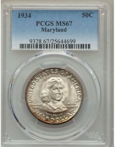 Click now to see the BUY IT NOW Price! MARYLAND 1934 SILVER COMMEMORATIVE 50C PCGS MS67 SOLID EYE APPEAL