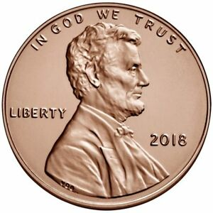 TWO   2   2018   P   BU  LINCOLN SHIELD PENNIES FROM LOGISTICS ROLLS.
