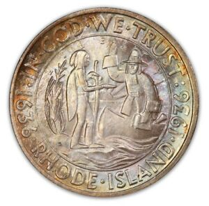 Click now to see the BUY IT NOW Price! RHODE ISLAND 1936 D 50C SILVER COMMEMORATIVE PCGS MS67 2756 33