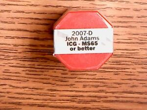Click now to see the BUY IT NOW Price! 2007 D JOHN ADAMS US DOLLAR ICG MS65 OR BETTER   ROLL OF 20   UNC