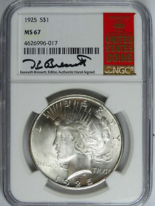 Click now to see the BUY IT NOW Price! 1925 P $1.00 PEACE DOLLAR RED BOOK LABEL NGC MS 67 5212