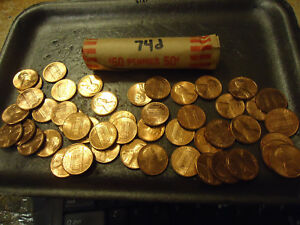 1974 D ROLL OF UNC. CENTS          >>COMBINED SHIPPING<<