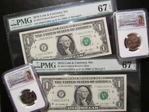 Click now to see the BUY IT NOW Price! IN SEQUENCE 2016 COIN & CURRENCY SET  NGC SP70EF  & PMG