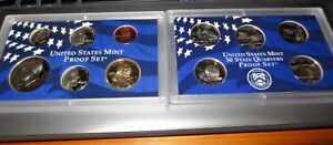 2005 UNITED STATES MINT PROOF SET & STATE QUARTERS   10 COINS AND COA