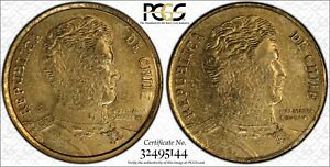 Click now to see the BUY IT NOW Price!  2011  CHILE PCGS MS61 MULE TWO HEAD ONLY 5 CERTF TRUEVIEW RICKSCAFEAMERICAN.COM