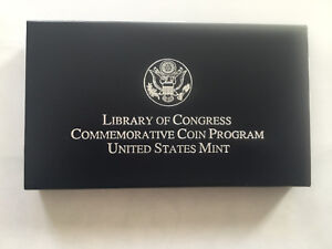2000 LIBRARY OF CONGRESS COMMEMORATIVE COIN UNITED STATES MINT PROOF 90  SILVER