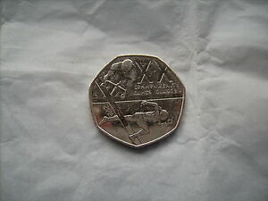 2014   50P COIN   XX COMMONWEALTH GAMES   GLASGOW