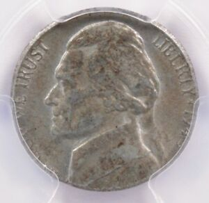 Click now to see the BUY IT NOW Price! PCGS 5C 1943 S JEFFERSON NICKEL ON STEEL CENT PLANCHET AU55
