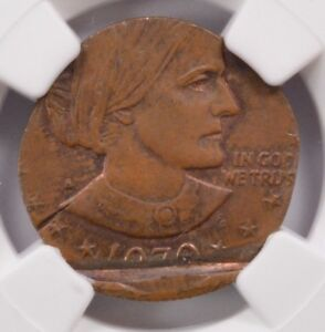 Click now to see the BUY IT NOW Price! NGC $1 1979 S SBA DOLLAR ON CENT PLANCHET MS 63 BROWN