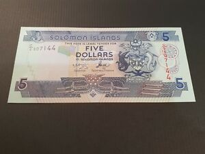 SOLOMON ISLANDS. $5. 5. FIVE DOLLAR BANK NOTE. 2004   2006. UNC. P26