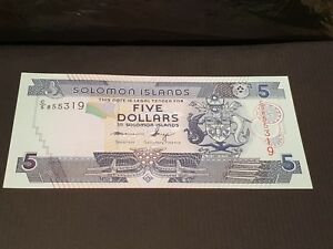 SOLOMON ISLANDS. $5. 5. FIVE DOLLAR BANK NOTE. 2011. UNC. P26.
