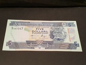SOLOMON ISLANDS. $5. 5. FIVE DOLLAR BANK NOTE. 2011. UNC. P26