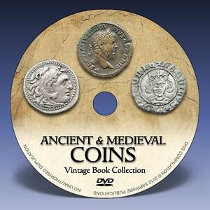 ANCIENT & MEDIEVAL COINS   180  BOOKS ON DVD    GREEK ROMAN NUMISMATICS