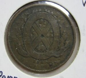 1844 PROVINCE OF CANADA BANK OF MONTREAL HALF PENNY TOKEN VG