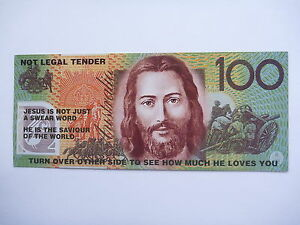 $100 FANTASY MONEY WITH CHRISTIAN WORDINGS   IDEAL AS A PRESENT