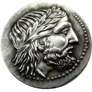G 11  ANCIENT GREEK SILVER TETRADRACHM COIN OF KING PHILIP II OF MACEDON   3