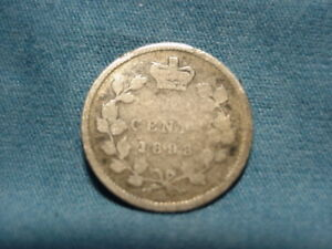 1898 CANADAIN  5 FIVE CENTS .925 SILVER
