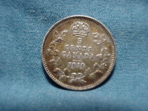 1919 CANADAIN  5 FIVE CENTS .925 SILVER