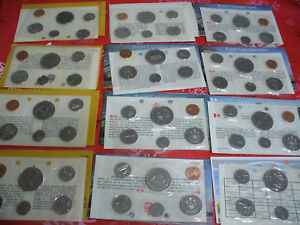 Click now to see the BUY IT NOW Price! LOT OF 12  1968 1979   CANADA   PROOF LIKE  SETS   DOLLAR HALF QUARTER DIME  RUN