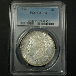 Click now to see the BUY IT NOW Price! 1893 MORGAN SILVER DOLLAR PCGS AU 53