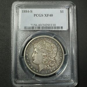 Click now to see the BUY IT NOW Price! 1884 S MORGAN SILVER DOLLAR PCGS XF 40