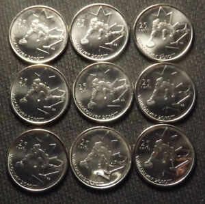 LOT 9 CANADA COINS VANCOUVER 2010 WINTER OLYMPICS  CURLING   BU