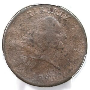 1793 S 4 R 3 PCGS VG DETAILS PERIODS CHAIN LARGE CENT COIN 1C
