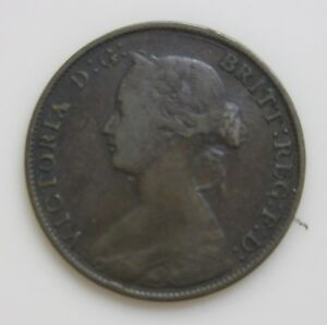 1861 NEW BRUNSWICK CANADA ONE CENT NICE DETAILS LOWER MINTAGE