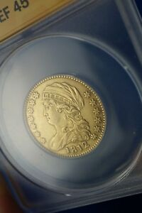 1812 US EARLY GOLD COIN DRAPED BUST TO LEFT $5 HALF EAGLE EF45 CAPPED