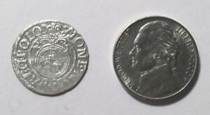 1621 SILVER COLONIAL COIN WITH SUPER NICE DETAILS   SEE PICTURES   398 YEARS OLD