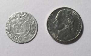 1624 SILVER COLONIAL COIN WITH SUPER NICE DETAILS   SEE PICTURES   395 YEARS OLD