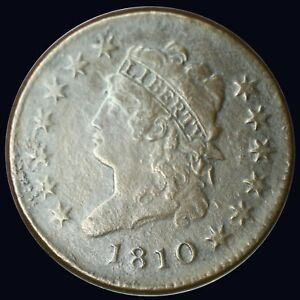 {DO928B} 1810 US LARGE CENT VF