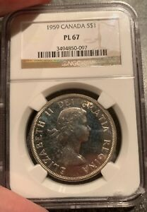 Click now to see the BUY IT NOW Price! 1959 $1 CANADA SILVER DOLLAR NGC PL67 ELIZABETH II DOLLAR GEM PROOF