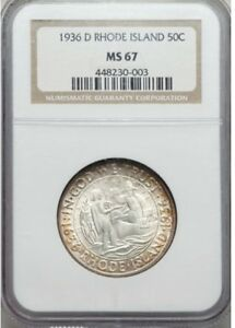 Click now to see the BUY IT NOW Price! RHODE ISLAND SILVER COMMEMORATIVE 50C 1936 D NGC MS67 SPARKLING GEM