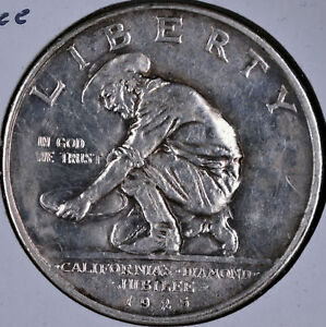 1925 S CALIFORNIA DIAMOND JUBILEE COMMEMORATIVE HALF DOLLAR   AU SCRATCH