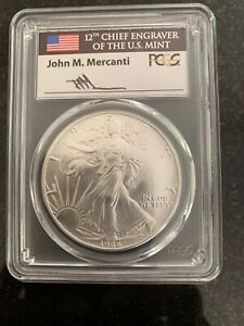 Click now to see the BUY IT NOW Price! 1986 $1 SILVER EAGLE MS70 PCGS JOHN MERCANTI SIGNED