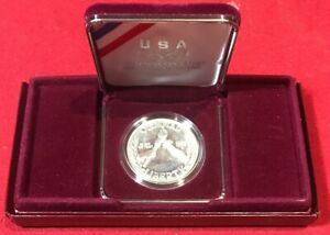 1988 PROOF OLYMPIC US MINT COMMEMORATIVE 90  SILVER DOLLAR COIN