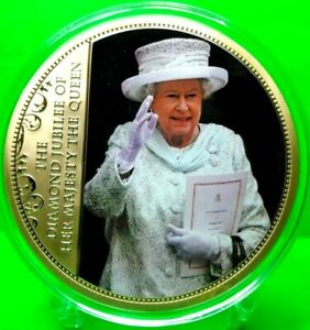 QUEEN ELIZABETH II DIAMOND JUBILEE COMMEMORATIVE COIN PROOF VALUE $139.95