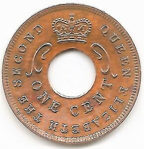 EAST AFRICA 1 CENT 1955 THE SECOND QUEEN ELIZABETH COPPER   B 382