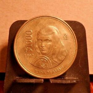CIRCULATED 1992 $1000 MEXICAN COIN  111618 1 ..FREE DOMESTIC SHIPPING